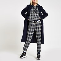 River Island Black Check Contrast Joggers