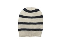 Hat Attack Stripe Beanie Wheat Navy Beanies Taupe