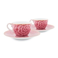 Pip Studio Spring To Life Cup And Saucers Set Of 2 Pink