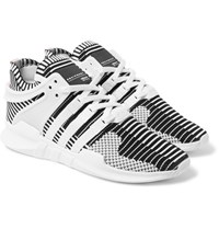 Adidas Originals Eqt Support Adv Rubber Trimmed Primeknit Sneakers White