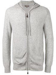 N.Peal Zip Up Hoodie Grey