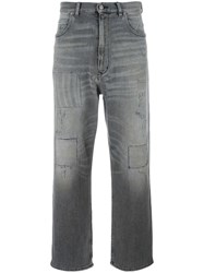 Golden Goose Deluxe Brand Distressed Boyfriend Jeans Grey