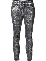 Faith Connexion Distressed Skinny Jeans Grey