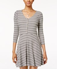 American Rag Striped Fit And Flare Dress Only At Macy's Black White Stripe