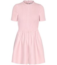 Valentino Wool And Silk Playsuit Pink