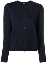 Aspesi Slim Fit Cardigan Blue