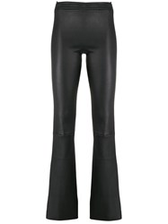 Drome Leather Flared Trousers Black