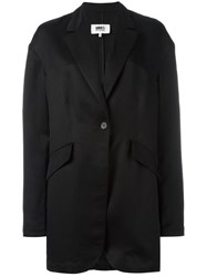 Maison Martin Margiela Mm6 Long Blazer Black