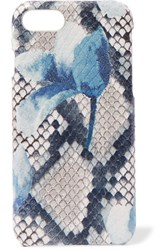 The Case Factory Printed Snake Effect Leather Iphone 7 And 8 Blue