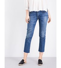 Re Done Straight Mid Rise Jeans Medium Wash