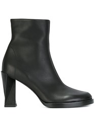 Ann Demeulemeester Twisted Heel Ankle Boots Black