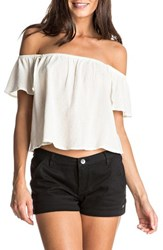 Roxy Women's Princess In The Sea Off The Shoulder Top Marshmellow