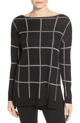 Chaus Women's Windowpane Cotton Blend Pullover