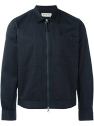 Universal Works 'Zip Uniform' Shirt Blue