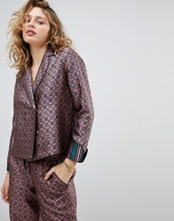 Maison Scotch Double Breasted Structured Pyjama Shirt Combo B Multi