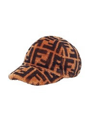 7869f93cc75 Fendi Printed Ff Logo Cap Brown