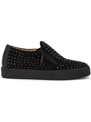 Giuseppe Zanotti Design Conner Low Top Sneakers Men Leather Suede Rubber 40.5 Black