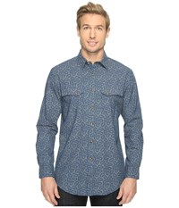 Pendleton Western Gambler Shirt Blue Paisley Men's Clothing