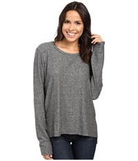 Project Social T Stormy Stitched Sweater Heather Grey Women's Sweater Gray