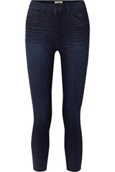 L'agence Margot Cropped High Rise Skinny Jeans Dark Denim