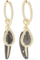 Jacquie Aiche 14 Karat Gold Multi Stone Earrings One Size