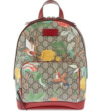 Gucci Tian Garden Canvas Backpack Multi