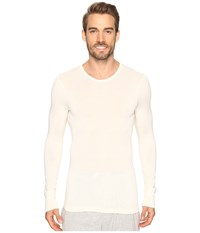 Hanro Woolen Silk Long Sleeve Shirt Cygne Men's Clothing White