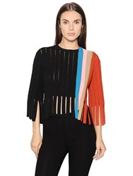 Marco De Vincenzo Fringed Milano Jersey Top