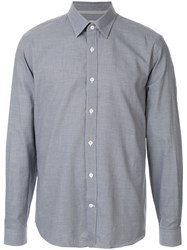 Gieves And Hawkes Cashmere Blend Shirt Blue
