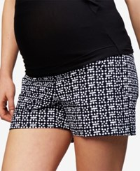 A Pea In The Pod Maternity Printed Shorts