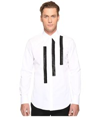 Dsquared Leather Rouches Button Up White