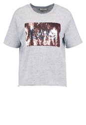 Lee Print Tshirt Grey Mele Mottled Grey