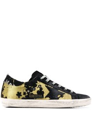 Golden Goose Blossom Jacquard Superstar Sneakers Black