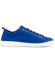 Paul Smith Ps By Contrast Sole Sneakers Men Leather Suede Rubber 9 Blue