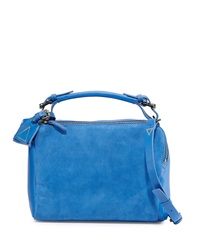 Kelsi Dagger Geek Suede Crossbody Bag Electric Blue