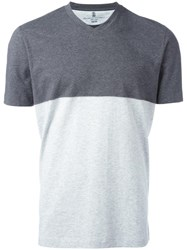 Brunello Cucinelli Colour Block T Shirt Grey