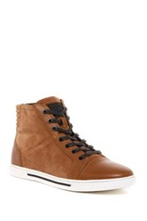 Kenneth Cole Reaction Fence Around High Top Sneaker Men Red