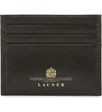 Launer Calf Leather Card Holder Black