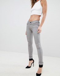 Replay Luz Zip Pocket Skinny Jeans Beige