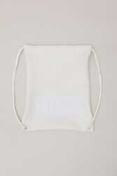 Hood By Air Neoprene Drawstring Bag White
