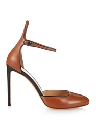 Francesco Russo Ankle Strap Leather Pumps