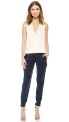 Ramy Brook Jodi Jumpsuit Ivory Navy