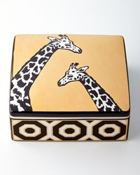 Animalia Giraffe Trinket Box Black Gold Jonathan Adler
