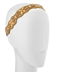 Deepa Gurnani Peace Cutwork Beaded Headwrap Gold