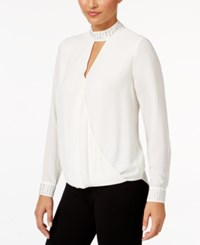Thalia Sodi Mock Neck Surplice Top Only At Macy's Cloud