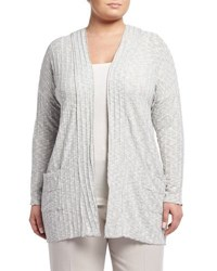 Montagne Plus Open Front Pocket Cardigan Gray
