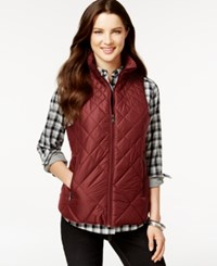 G.H. Bass And Co. Packable Quilted Vest Berry