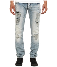 Armani Jeans Slim Fit Light Wash W Rip And Repair