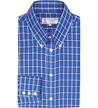 Turnbull And Asser Informalist Fit Gingham Cotton Shirt Blue