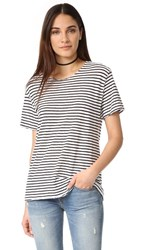 R 13 R13 Striped Rosie Tee White Black Stripe